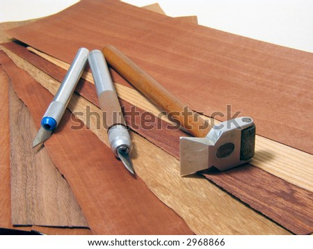 Cutter for mosaic. - stock photo