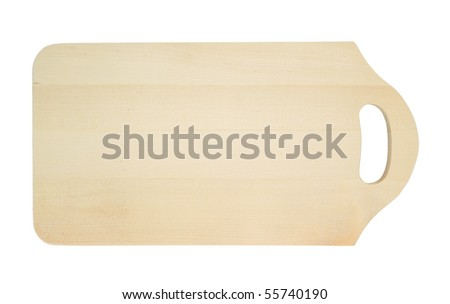 Cutting board isolated on a white background - stock photo