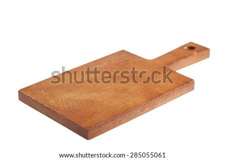 Cutting board isolated on white background - stock photo