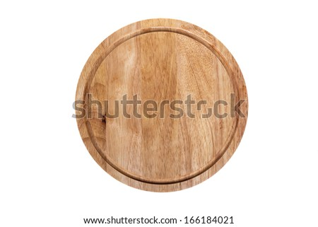 Cutting board on an isolated background - stock photo