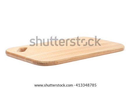 cutting board on white background - stock photo