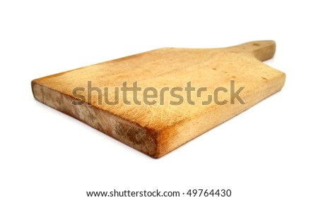 Cutting board wooden used - stock photo
