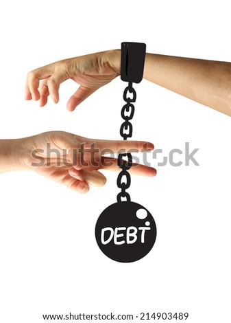 Cutting Debt - stock photo