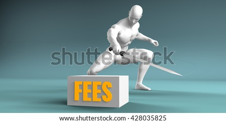 Cutting Fees and Cut or Reduce Concept 3d Illustration Render - stock photo