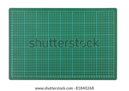 Cutting mats. the ground is green - stock photo