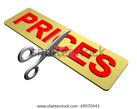 Cutting Prices - stock photo