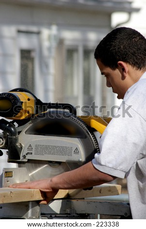 Cutting the proper length - stock photo