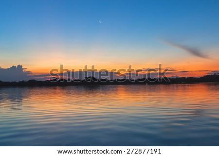 Cuyabeno river, Cuyabeno Wildlife Reserve, south America - stock photo