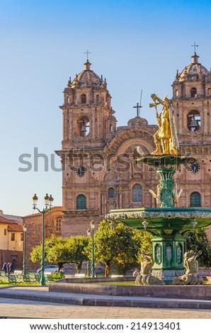 Cuzco, Peru - The Church of the Company of Jesus - stock photo