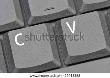 CV stands for Curriculum Vitae - stock photo