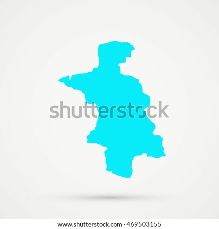 Cyan Aarau district, canton (country subdivision)  of Aargau, Switzerland Map Illustration