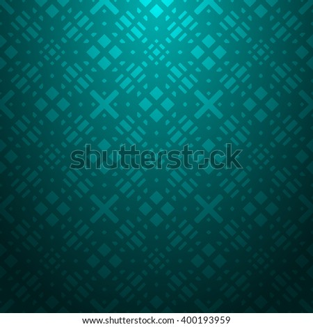 Cyan abstract striped textured geometric pattern