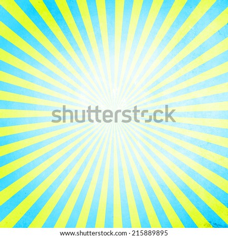 Cyan and yellow color grunge burst background