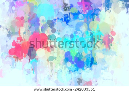 Cyan brush strokes background - stock photo