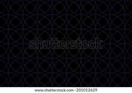 Cyan fractal background with a simple decorative flower of life pattern in high resolution against black color - stock photo
