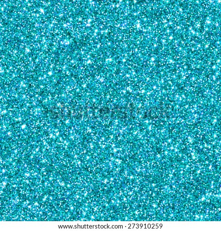Cyan glitter for texture or background - stock photo