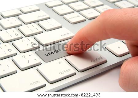 Cyber attack, cyber terrorism, cybercrime concept. - stock photo