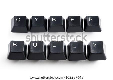 cyber bully - stock photo