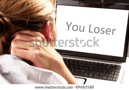 Cyber Bullying - stock photo