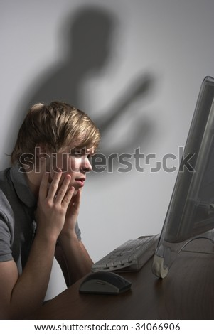 Cyber Bullying Concept - stock photo