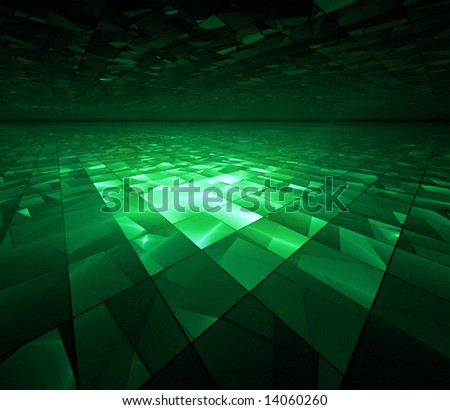 Cyber Kryptonite Glow - fractal illustration - stock photo