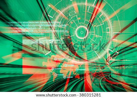 cyber laser target on a speed concept - stock photo