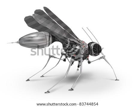 Cyber mosquito - stock photo