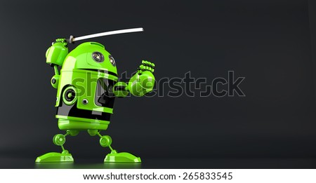 Cyber ninja. Technology concept. Isolated. Contains clipping path. - stock photo