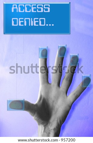 Cyber security(Access Denied message) - stock photo