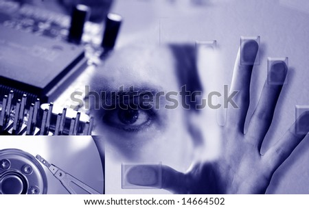 Cyber security images - stock photo