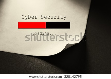 Cyber Security loading - stock photo