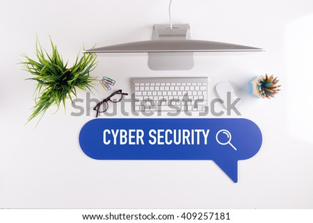 CYBER SECURITY Search Find Web Online Technology Internet Website Concept - stock photo