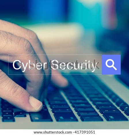 Cyber Security SEARCH WEBSITE INTERNET SEARCHING CONCEPT - stock photo