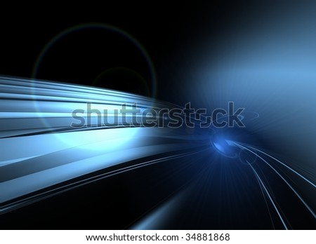cyber space - stock photo