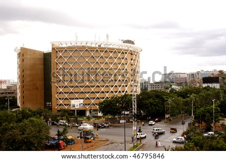 Cyber tower-Hyderabad - stock photo