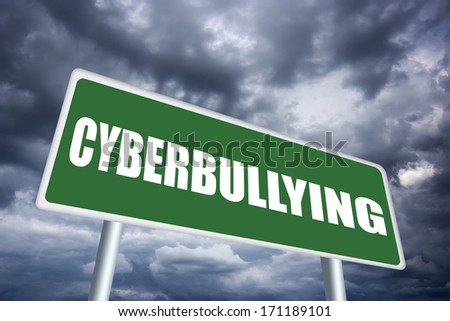 Cyberbullying sign - stock photo
