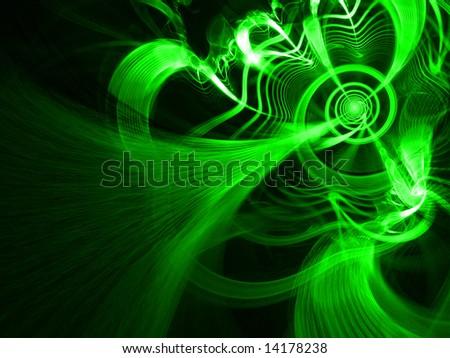 CyberGrowth - Fractal Illustration - stock photo