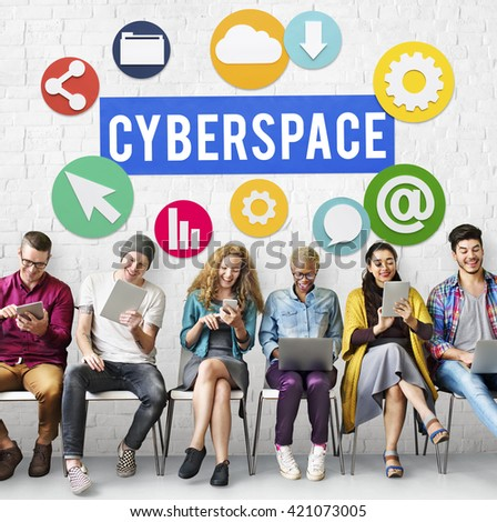Cyberspace Online Technology Internet Concept - stock photo