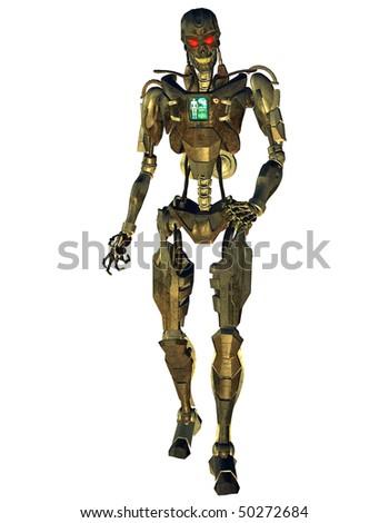 Cyborg combat machine - stock photo