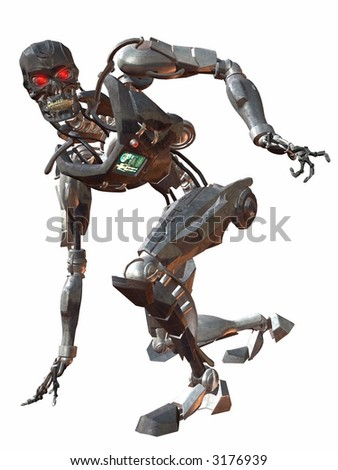 Cyborg 3000-Crouch - stock photo