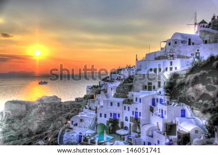 Cyclades island in Greece - stock photo