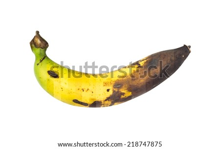 Cycle Green to Black colour of Banana fruit - stock photo