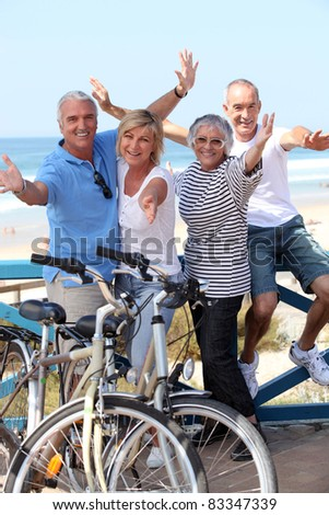 cycle riding - stock photo