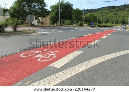 cycleway in Brno, Czech Republic - stock photo