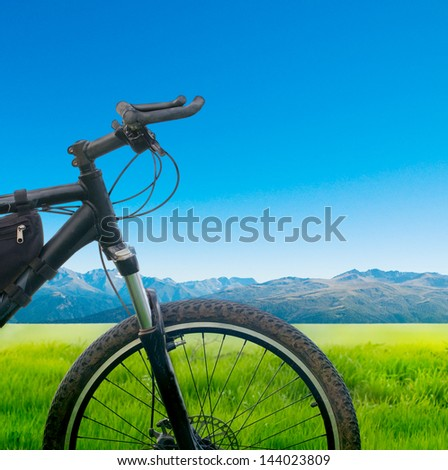cycling bicycle outdoors - stock photo