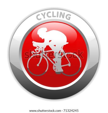 cycling icon - stock photo