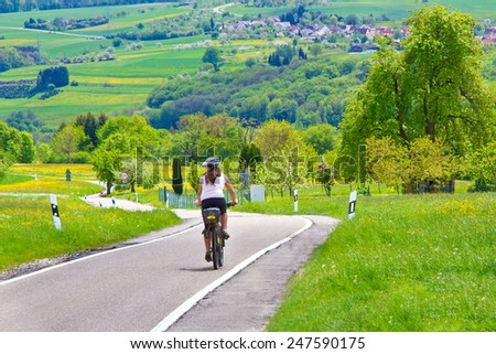 Cycling in nature - stock photo