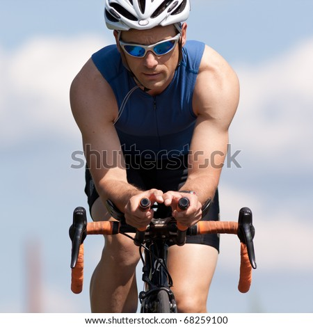 cycling on a bicycle - stock photo
