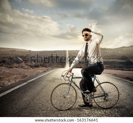 Cycling on the Road - stock photo