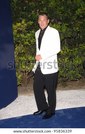 Cyclist LANCE ARMSTRONG at amfAR's Cinema Against AIDS gala at the Moulin de Mougins restaurant in Cannes. May 25, 2006  Cannes, France.  2006 Paul Smith / Featureflash - stock photo